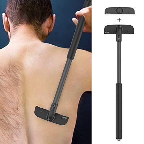 Rückenrasierer Herren Körperrasierer Rücken Rasierapparate - Xpreen Verstellbarer Rückenhaarentferner mit 2 Klingen für Männer Ergonomischer Hochwertige schmerzfrei rasieren unter Nass oder Trocken