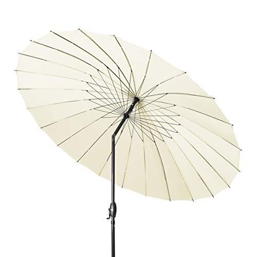 derby SHANGHAI II 270 - Hochwertiger Alu Sonnenschirm ideal für den Garten - Witterungsbeständig - ca. 270 cm - Natur