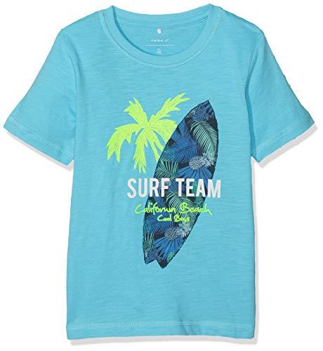 NAME IT Jungen Nmmjusse Ss Top T-Shirt, Türkis (Bachelor Button), (Herstellergröße: 104)