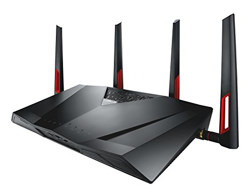 Asus DSL-AC88U Modem Router (DE-Version Annex B, WiFi 5 AC3100 MU-MIMO, 4x Gigabit LAN, AiProtection, Dual-Core CPU, Multifunktion USB 3.0)