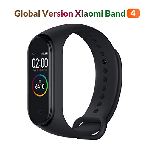 Original Xiaomi MiBand 4 (Global Version) Fitness Tracker 0,95 Zoll AMOLED Farbdisplay Jugend Unisex Schwarz Klein