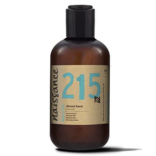 Naissance reines Mandelöl süß 250ml – Vegan, gentechnikfrei – Ideal zur Haut- und Haarpflege, für Aromatherapie und als Basisöl für Massageöle