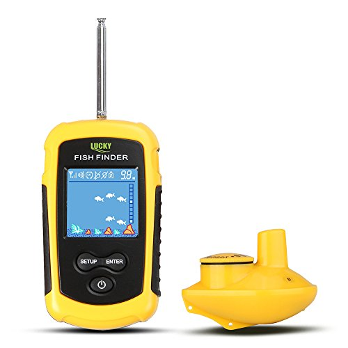 CHSEEO Drahtloser Fischfinder Fischfinder Fischdetektor Portable Angeln Sonar Sensor Beweglicher Fisch-Sucher-Tiefe Fischsucher LCD Tiefe Finder Echolot #1