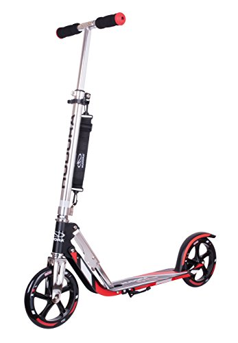 HUDORA Big Wheel Scooter 205 - Das Original, Tret-Roller klappbar - City-Scooter - 14724, schwarz/rot
