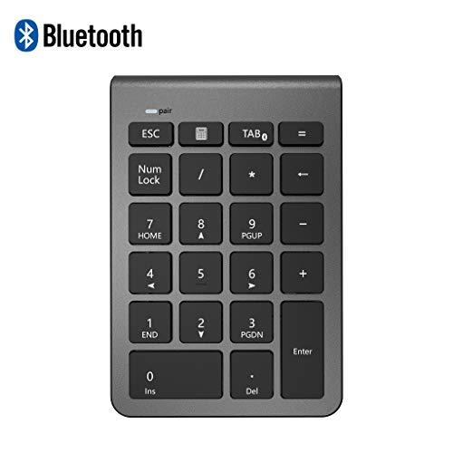 Ziffernblock Bluetooth, Alcey Nummernblock Numpad Bluetooth Ziffernblock mit 22 Tasten Tastaturerweiterung für Laptop, Desktop, PC und Notebook