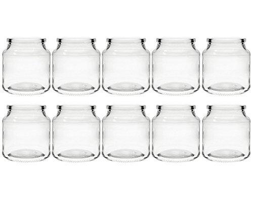 hocz Teelichtgläser Windlicht Set | 10 teilig | Typ 175 ml | Rund Hochwertiges Glas | Glasdose Glasgefäß Tischdeko Teelichtgläser Hochzeitsdeko (10 Stück)