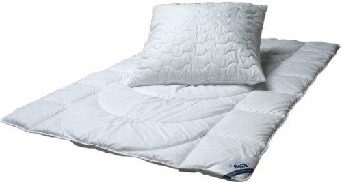 BeCo BW101248 Bedding Set Duvet 135x200 cm and Pillow 80x80cm Weiß