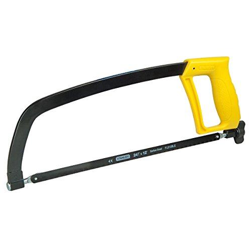 Stanley Metallbügelsäge (300 mm Klingenlänge, max. Schnittleistung 110mm, 24 Zähne/Inch, 90° / 180° verstellbar) 1-15-122