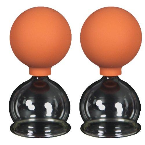 Schröpfgläser mit Ball 2 Stück 50mm zum professionellen, medizinschen, feuerlosen Schröpfen, Schröpfglas, Schröpfgläser, Lauschaer Glas das Original