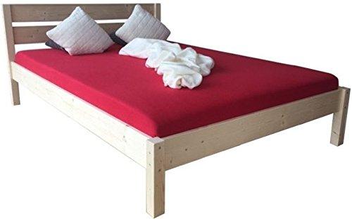 Massivholzbett Bett mit hohem Kopfteil Holzbett 90 100 120 140 160 180 200 x 200cm hergestellt in BRD (120cm x 200cm)