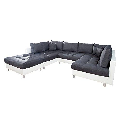 XXL Wohnlandschaft KENT 305 cm Federkern inkl.Hocker Couch Sofa Wohnlandschaft U-Sofa