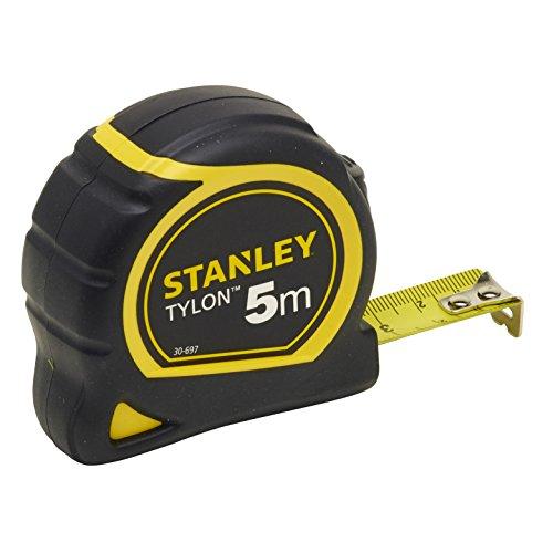 Stanley Bandmass Tylon (5 m, Tylon-Polymer Schutzschicht, verschiebbarer Endhaken, Kunststoffgehäuse) 0-30-697