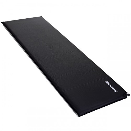 LCP Sports Selbstaufblasende Luftmatratze Isomatte 200x66 cm und 6 cm Dick/Stark; Schwarz
