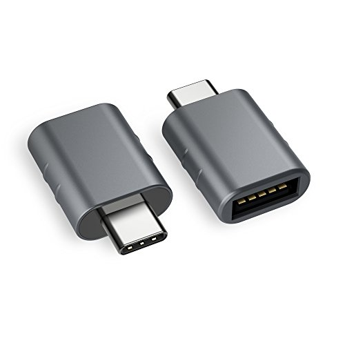 USB C Adapter auf USB 3.0[2 Stücke],OTG USB Typ C Adapter,Thunderbolt 3 to USB 3.1/3.0/2.0 für MacBook Pro 2018/2017, Samsung Galaxy S9/S8/Tab S3,LG g5/g6,Surface Go,Huawei,Dell XPS