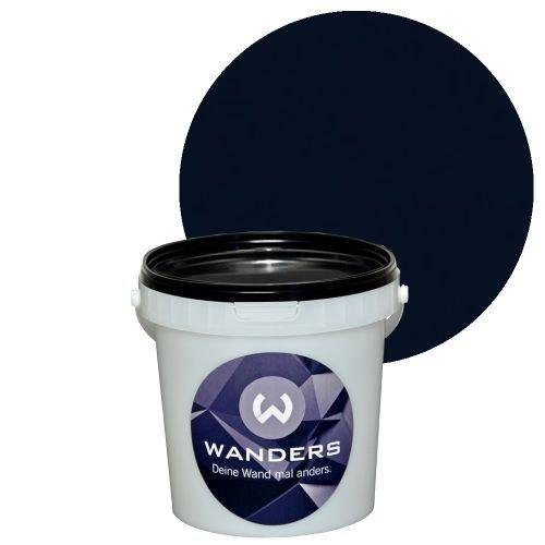 Wanders24 Tafelfarbe matt 15 Farbtöne (1 Liter, Schwarz) in 1L, 3L, 80ml, Wandfarbe Tafelwand-farbe kreativ abwaschbar beschreibbar Tafel-farbe Tafellack Tafel-lack Wand-farbe Tafel Wand