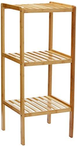 Relaxdays 10013496 Badregal, Bambus, natur, 33 x 33 x 79 cm