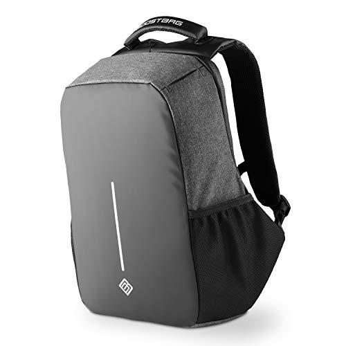 Boostbag Anti Theft Backpack - Der Boostboxx Anti Diebstahl Rucksack mit Fächern für Reisepass, Kreditkarte mit RFID Schutz, Laptop, Notebook, Ipad, Tablet, Handy usw. mit TSA Schloss und USB