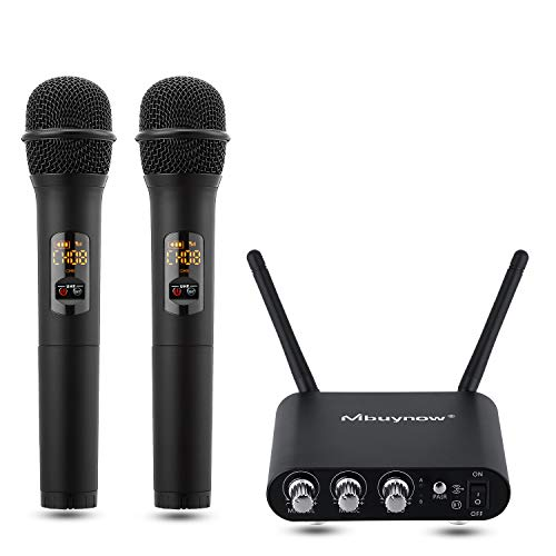 Mikrofon Set, Mbuynow Bluetooth Handmikrofon mit Empfängerbox UHF Funkmikrofon mit 10 Kanal