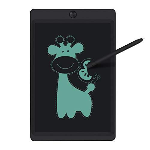 Miavogo LCD Schreibtafel 10 Zoll teilweise/ganz Gelöscht elektronisch Writing Tablet Schreibtablett Schreibplatte papierlos für Kinder Schüler Erwachsene, mit Stift + Sperrtaste