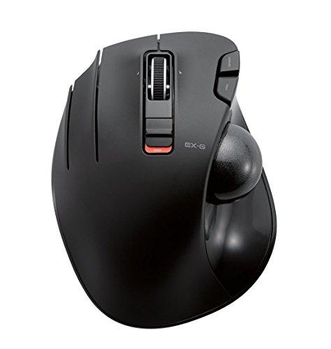 Elecom Wireless Trackball Maus für Linkshänder, 6Tasten, Tilt-Funktion, in schwarz M-XT4DRBK