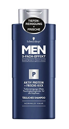 Men Aktiv Protein Frische-Kick Shampoo, 4er Pack (4 x 250 ml)