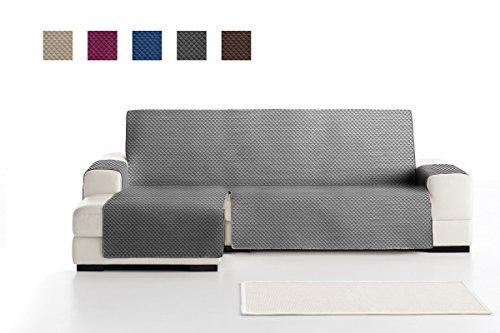 ADELE Chaise Longue Sofa Bezug, Schutz für Linke Arm gesteppte Sofas. Größe -240cm. Farbe Grau (Vorderansicht)