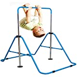 Jolitac Turnreck Gymnastik Kinder Garten Reck Reckanlage Turnstangen Horizontale Training Bar Trainingsgeräte Outdoor Fitness Höhenverstellbar (Blau)