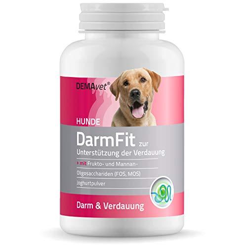 DEMAvet DarmFit Nahrungsergänzungsmittel für Hunde Verdauung Magen Darm | Von Tierärzten entwickelt | Gleichgewicht der Darmflora und bei Durchfall 120 Tabletten