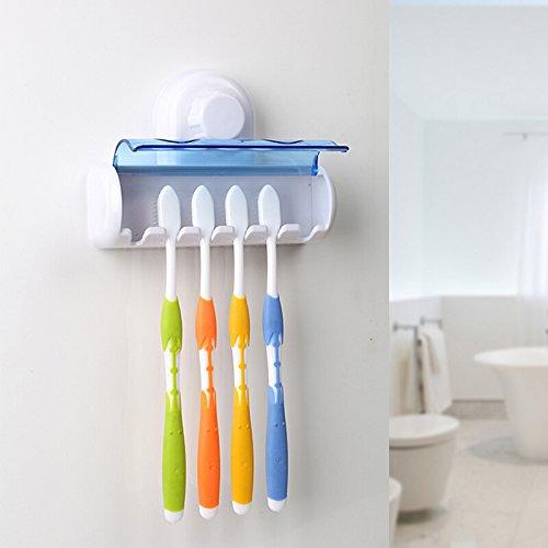 Tofree Zahnbürstenhalter mit Saugnapf, Kunststoff, Zahnbürstenhalter für Badezimmer