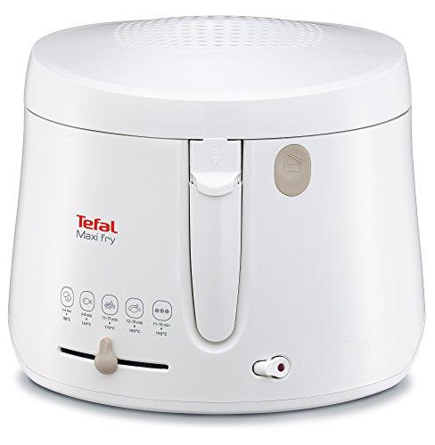 Tefal Maxi Fry FF1000 Fritteuse (1900 Watt, regelbare Temperatur, wärmeisoliert, 1 kg Fassungsvermögen) weiß