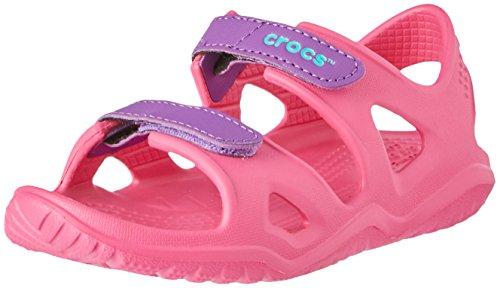 Crocs Unisex-Kinder Swiftwater River Sandalen,Pink (Paradise Pink/Amethyst 60o), 22/23 EU