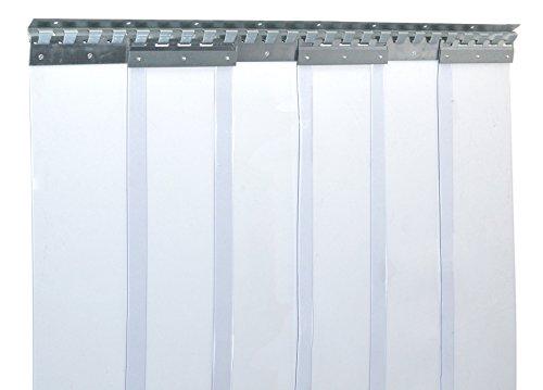PVC Streifenvorhang Lamellen 2x200mm - H2,00 x B1,05 m - fertig vormontiert - VZ