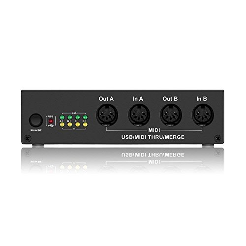 4-In/4-Out MIDI BOX -DriverGenius USB MIDI Interface Splitter Controller Music Box with MIDI Merge Function