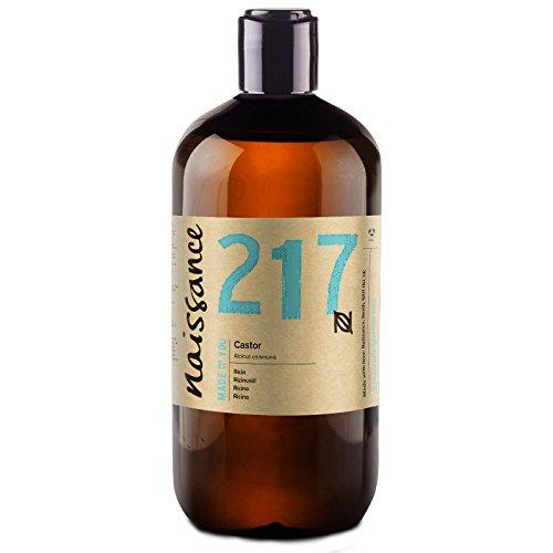 Naissance kaltgepresstes Rizinusöl (Nr. 217) 500ml - reines, natürliches, veganes, hexanfreies, gentechnikfreies Öl - pflegt und spendet Feuchtigkeit für Haare, Wimpern und Augenbrauen