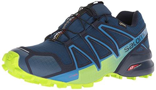 Salomon Herren Speedcross 4 GTX Trailrunning-Schuhe,blau (poseidon/navy blazer/lime green), 46 EU