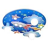 COCOL Kinderzimmer Deckenleuchte universum Sterne Kinderzimmer Deckenleuchte mit weißem LED-Licht Lampe Schlafzimmer Umgebung für Jungen und Mädchen Cartoon 610 * 610 * 190mm