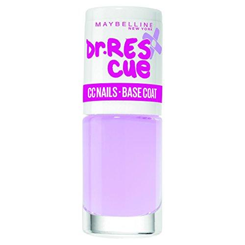Maybelline Dr. Rescue CC Nails Base Coat, Unterlack, hellt die Nägel optisch auf, schützt vor neuen Verfärbungen, 6,7 ml