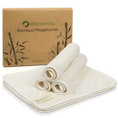 Bambus Pflegetücher 6er-Set, Seiftücher, Kosmetiktücher, Reinigungstücher für die Haut, hypoallergen, waschbar, 100% Bambus Viskose