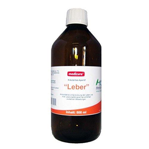 Leber Teekonzentrat mit Löwenzahn, Mariendistel, Artischocke, Salbei und Pfefferminzblätter - 500 ml