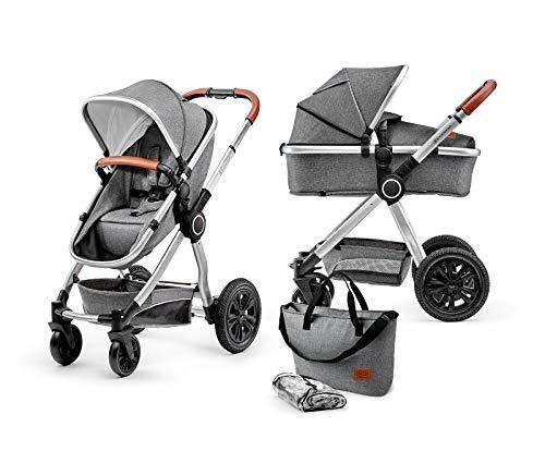 Kinderkraft KKWVEOGRY20000 Veo Multi Kinderwagen Kombikinderwagen 2in1, grau