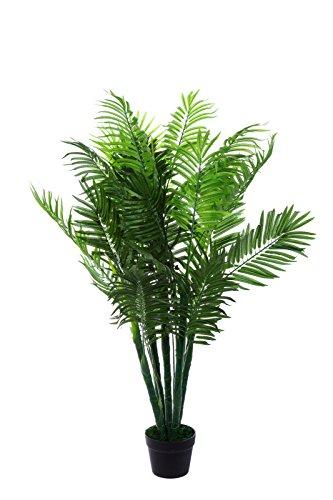 XXL Phoenix Palme. Farnpalme, Kokospalme JWT1583 Riesige künstliche grüne Phoenix Palme, Farnpalme 130 cm hoch, Kunstpflanze, Kunstblume, Kunstbaum, Zimmerpflanze künstlich