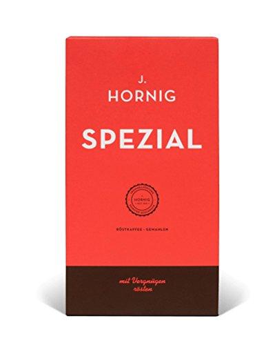 J. Hornig Spezial | Kaffee gemahlen | 500g | Perfekt für Filterkaffee, Frenchpress & Mokkakanne