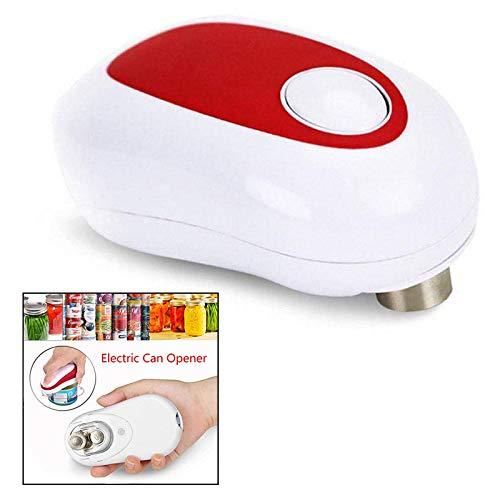 Xrten Elektrische Dosenöffner,Automatische Küche Dosenöffner mit Einer Taste Start & Stop(Rot)
