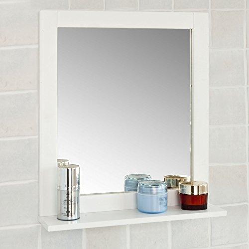 SoBuy FRG129-W Spiegel Wandspiegel Badspiegel mit Ablage weiß