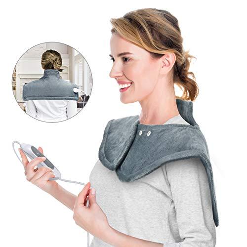 OMORC OMORC Heizkissen Nacken Schulter und Rücken 3 Temperaturstufen, abschaltautomatik, ca. Schlafmaske, 50 x 56 cm