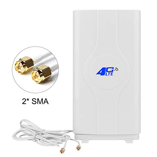 NETVIP 4G Antenne SMA High Gain 4G LTE Antenne Mimo Dual Signal Booster Verstärker Netzwerk für WiFi Router Mobile Breitband Empfang Langstreckenantenne Mit SMA Anschlusskabel für Mobile Hotspot