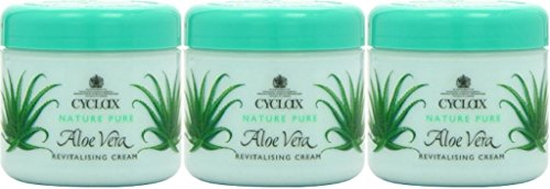 THREE PACKS of Cyclax Aloe Vera Revitalising Cream 300ml by Cyclax