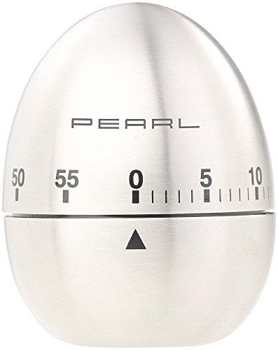 PEARL Kurzzeitwecker: Kurzzeitmesser, Eieruhr aus Edelstahl, 60-Minuten-Timer und Signalton (Küchen-Timer)