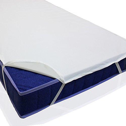 sinnlein Wasserdichte atmungsaktive Molton Betteinlage 11 Größen wählbar 100% Baumwolle Matratzenschoner Matratzenauflage (120x200cm)