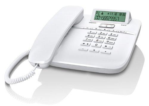 Gigaset DA610 Telefon - Schnurgebundes Telefon / Schnurtelefon - Display - Freisprechen - Stummschaltung - Mute / Analog Telefon - weiß